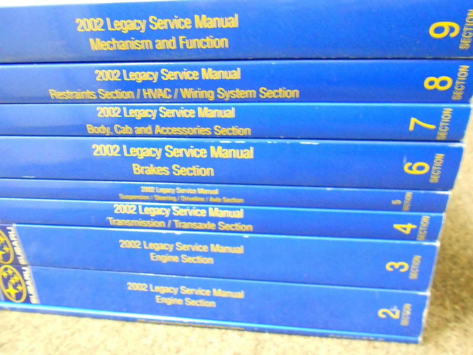 2002 Subaru Legacy Outback Service Repair Shop Manual HUGE SET FACTORY OEM BOOKS