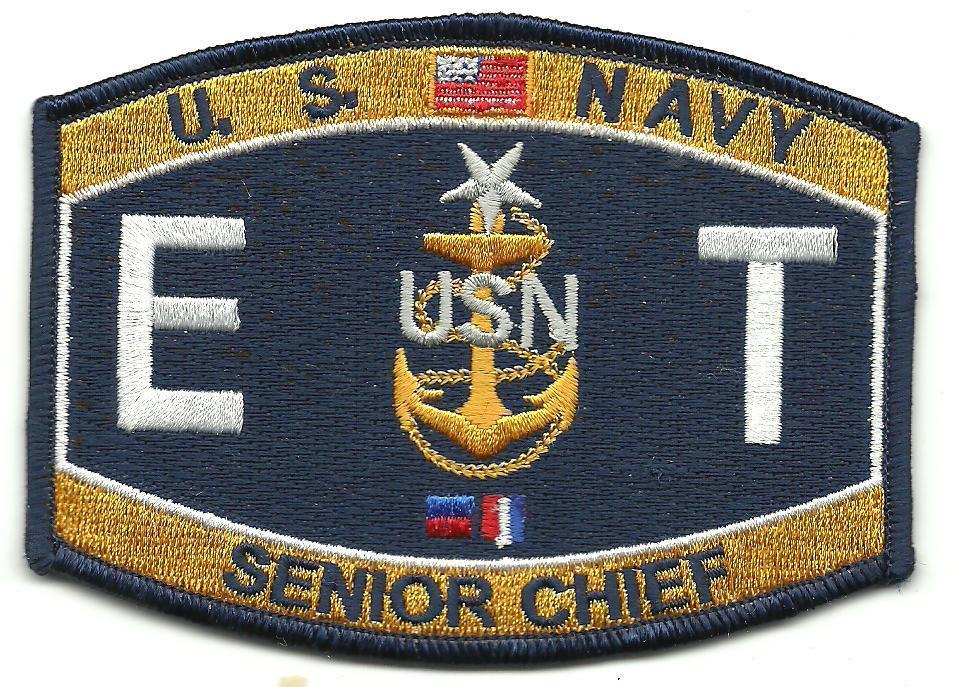 Primary image for S Navy E T  Senior Chief MOS Patch