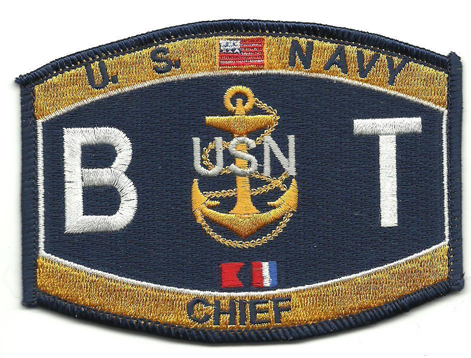 Primary image for US Navy B T Chief MOS Patch
