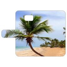 Tropical Island Palm Tree Samsung Galaxy S6 Leather Folio Case model 984... - $15.00