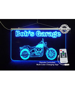 Personalized LED Sign, Man Cave, Garage, Harley Davidson Motorcycle Sign - $138.60