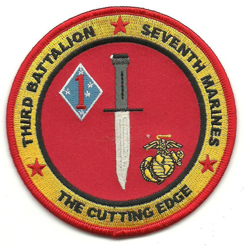 Primary image for USMC 3rd Battalion Seventh Marines The cutting Edge Patch