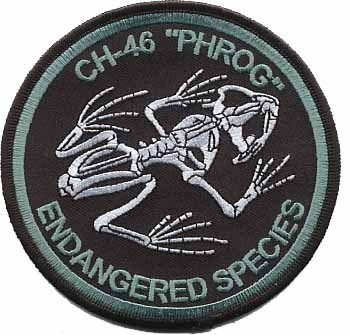 Primary image for USMC CH-46 Phrog Endangered Species Patch