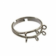 Adjustable Metal Finger Ring With 6 Loops - Color Choice - 1 Piece - $1.49