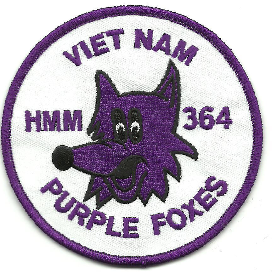 Primary image for USMC HMM-364 Purple Foxes Vietnam Patch
