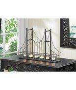 Candles GOLDEN GATE CANDLEHOLDER Candle Light Bridge Bridges Tealight Me... - $47.03