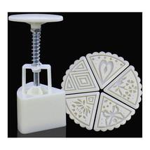 Sector shape Moon Cake Pastry Mold Hand Pressure 50g One Barrel 5 Flower... - €11,51 EUR