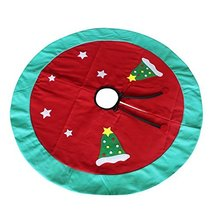 [Red and Stars] Christmas Party Decorative Tree Skirt Durable Tree Skirt - $24.88