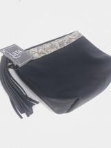 """Ulta Black Tassel Leaf Makeup Cosmetic Pouch Clutch Bag Case 8.75""""x6.75""""x2.75"""" - $8.37"""