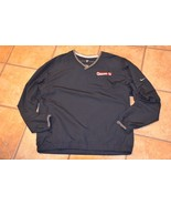 NIKE CUMBERLAND HH V-NECK BLACK WINDBREAKER MENS L GOLF RAIN JACKET PULL... - $15.75