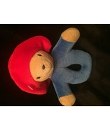 "Eden Paddington Bear Red Hat Plush Baby RATTLE  7"" Hand Held Rattle Red ... - $6.92"