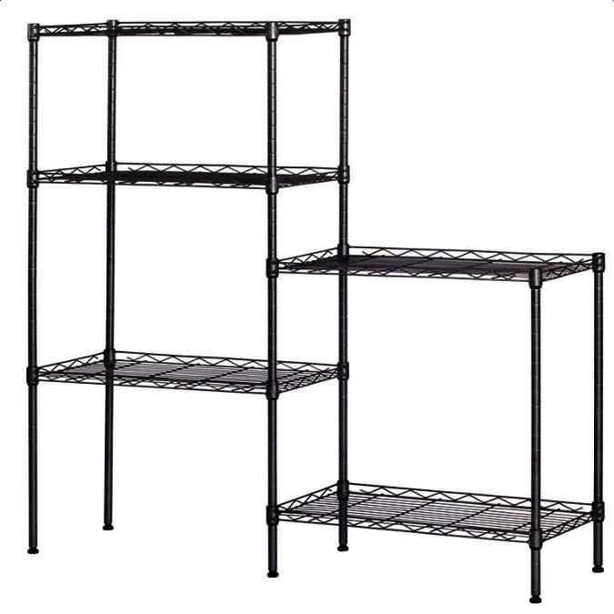 Carbon Steel Storage Rack Black