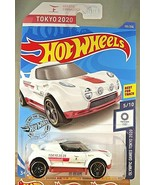 2020 Hot Wheels #155 Olympic Games Tokyo 2020 5/10 HI BEAM White w/Black... - $6.75