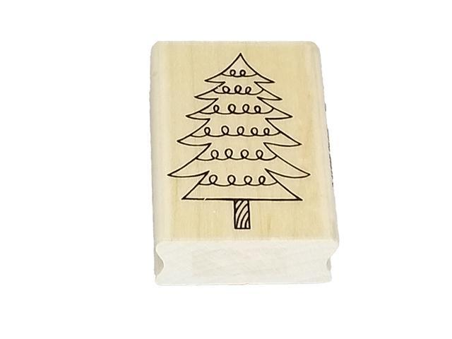 A Muse Artstamps Christmas Tree Rubber Stamp