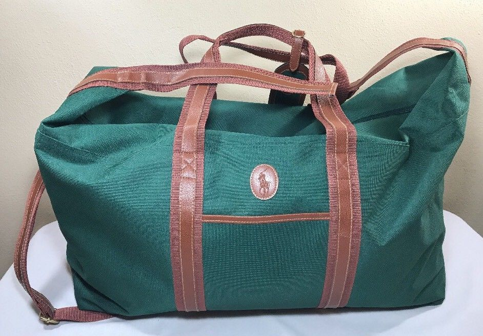 f634a3254159 VTG Polo Ralph Lauren Bag Green Canvas and 50 similar items. S l1600