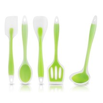BFOX 5 Piece Lime Green Non-Stick Silicone Cooking Utensils Heat-Resista... - $21.81