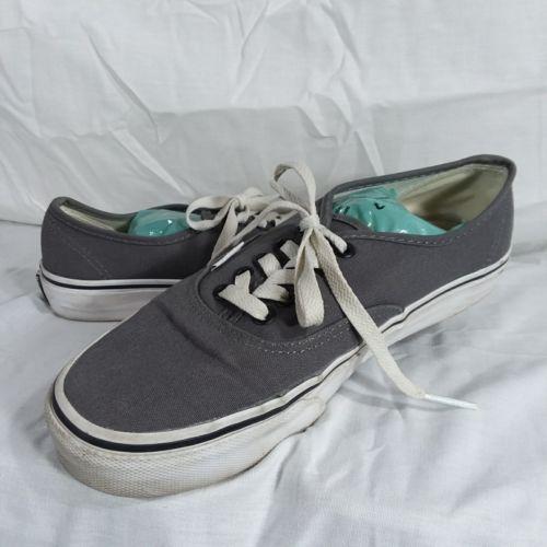 Vans Gray Classic Sneakers Shoes Men's Size 6 Women's Size 8 EUR 38.5 Lace Up image 3