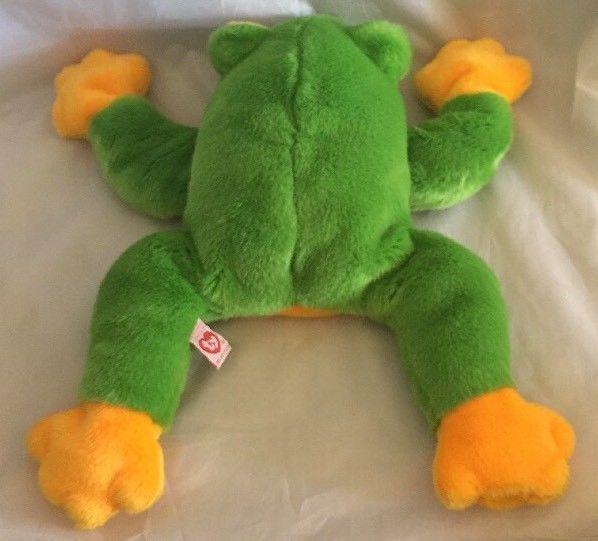 "bf86036a937 1998 Ty Original Beanie Buddy 13"" Long SMOOCHY The Frog - FAST SHIPPING!"