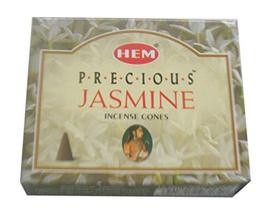 ABN Fashion Hem Precious Jasmine Fragrance Incense Cones Indian Dhoop Pack of 12 - $24.69