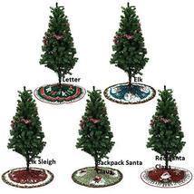 Home Decoration 90cm Christmas Tree Skirt Elk Sleigh Floor Mat Cover TkG... - $25.74