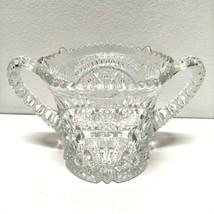 Vintage American Brilliant Pressed Cut Depression Glass Double Handle Sp... - $98.51