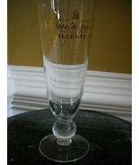 """Budweiser Since 1876 Millennium Globe Stemmed Gold Label 8 3/8"""" Tall Bee... - $17.15"""