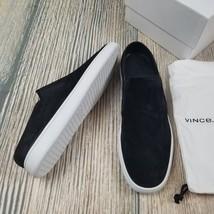 New VINCE sz 8.5/9.5 women black suede lower on back slip on sneakers $190 - $78.00