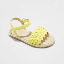 Toddler Girls' Elvie Espadrille Sandals - Cat & Jack Yellow - $18.00