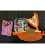 Fisher Price Disney Princess Float Parade Moana Little People Raft Boat NEW - $78.00