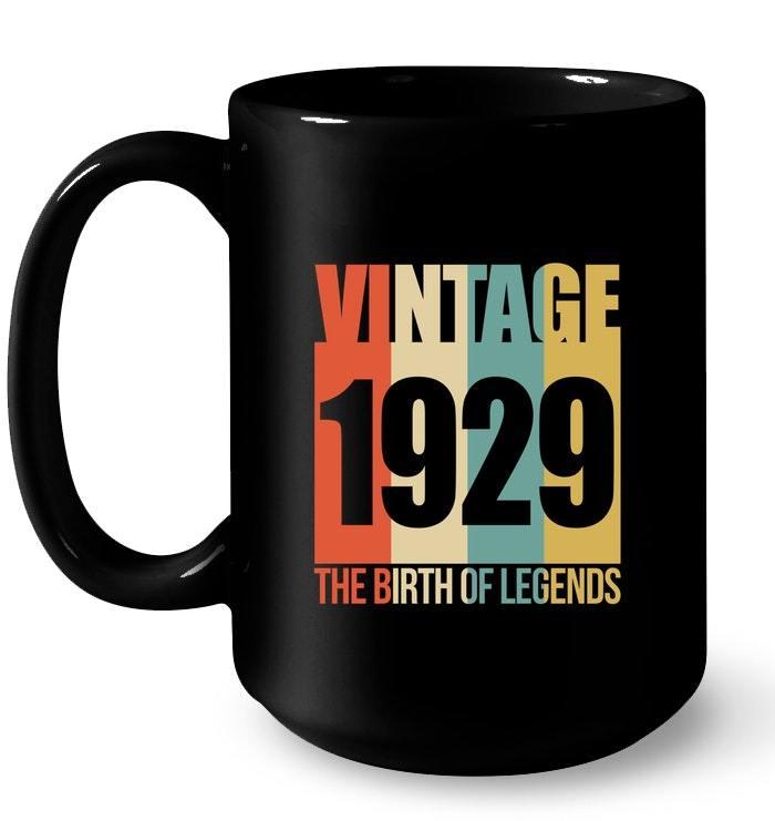 Retro Vintage 1929 89 yrs old Bday 89th Birthday Tee Gift Coffee Mug