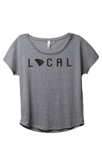 Thread Tank Local South Carolina State Women's Slouchy Dolman T-Shirt Te... - $24.99+