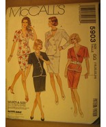 UNCUT Sewing Pattern 1991 McCALL'S Size 8,12,14,16 TOP & SKIRT 5903 [Z180] - $4.51
