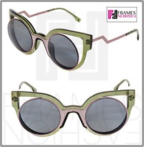 Fendi Paradeyes FF0137S Pink Green Silver Mirrored Opaque Sunglasses Optyl 0137 - $249.48
