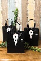 Crisky Classic Black Tuxedo Gift Bags for Groomsman Father's Birthday Anniversar image 2