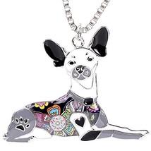 Marte&Joven Rat Terrier Keychain Jewelry for Women Cute Enamel Pet Dog P... - $12.55