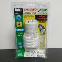 Sylvania Soft White100w Watt Bulb Energy Saving GU24 Base 10k Hr - $8.56