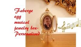 Faberge Baptism Gift For Grandson Grandadughter Christening Personalised Hndmade - $599.00