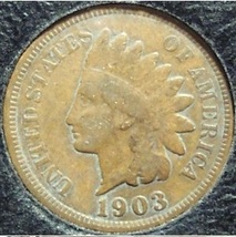 1903 Indian Head Penny Partial Liberty VG #0487 - $1.99