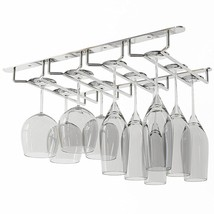 WALLNITURE Under Cabinet Stemware Glass Rack Wine Glasses  Chrome Finish - $21.64