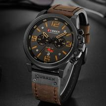 Curren 8314 Top Brand Luxury Mens Watches Men Military Sport Wristwatch Leather  - $44.31