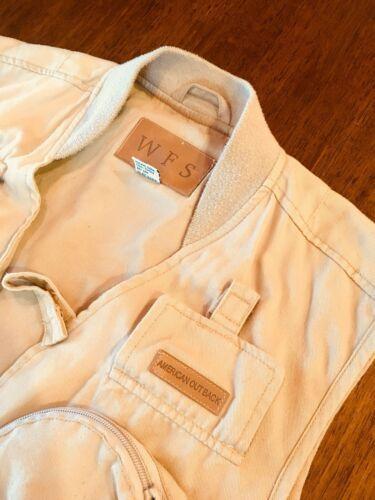 WFS KHAKI Beige fishing vest Size L 60% Cotton 40% Poly #186 image 4