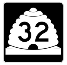 Utah State Highway 32 Sticker Decal R5377 Highway Route Sign - $1.45+