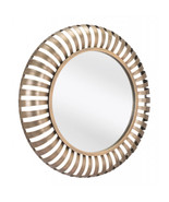 Offex Living Room or Bedroom Decorative Modern Wall Mirror - Gold - $180.00