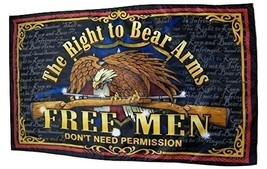 The Right To Bear Arms Flag 3' X 5' Gun Rights Banner - $15.95