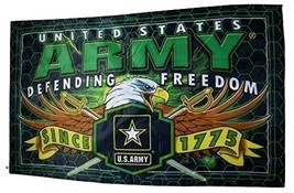 U.S. Army Defending Freedom Since 1775 Flag 3' X 5' Military Banner - $15.95