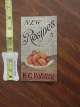 K C Advertising Baking Powder New Recipes Brochure antique 1920s ? no da... - $7.00