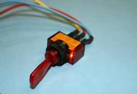 12V RED TOGGLE SWITCH ON OFF 12 VOLT DC CAR ITSLR-W - $4.25