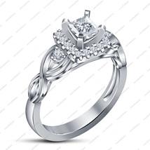 Princess Cut  White CZ 925 Sterling Silver New Design Wedding Ring Women's - $72.99