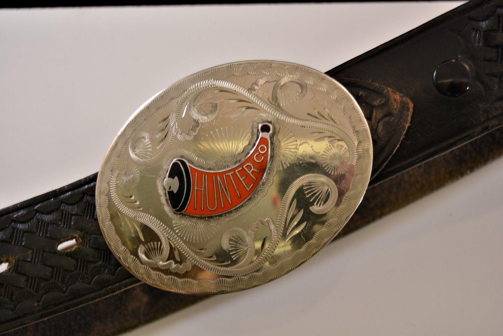 Vintage Bianchi Leather Belt B8 32