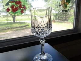 Beautiful Lead Crystal Clear Glass Wine Goblet Glass ~EUC~ - $15.84